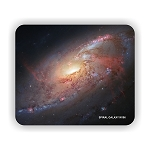 Spiral Galaxy M106 Mouse Pad 9.25