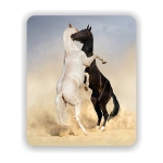 Stallions Fighting Mouse Pad 9.25