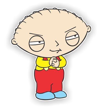 Stewie Griffin Family Guy Die Cut Decal 4 Sizes
