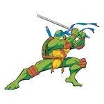 Teenage Mutant Ninja Turtles (Blue) Die-cut Vinyl Decal / Sticker ** 4 Sizes **