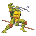 Teenage Mutant Ninja Turtles (Purple) Die-cut Vinyl Decal / Sticker ** 4 Sizes **