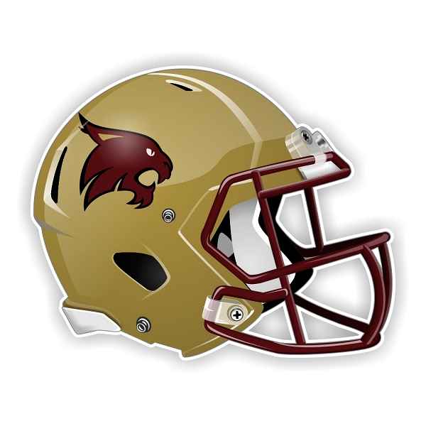 Texas State Bobcats New Shape Helmet Die Cut Decal 4