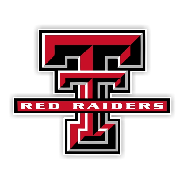 Texas Tech Red Raiders B Die Cut Decal 4 Sizes
