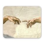 Michelangelo The Creation of Adam Mouse Pad 9.25