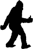 BigFoot Thumbs up Silhouette Die-cut Vinyl Decal / Sticker ** 4 Sizes **