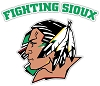 North Dakota Fighting Sioux (A) With Words Vinyl Die-Cut Decal / Sticker ** 4 Sizes **