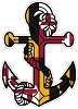 Maryland Anchor Flag Die-cut Vinyl Decal / Sticker ** 4 Sizes **