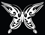 Tribal Butterfly Die-Cut Decal / Sticker ** 4 Sizes **