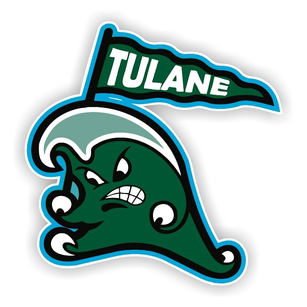 Tulane Geen Wave E Die Cut Decal 4 Sizes