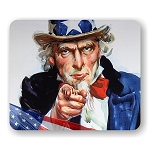 Uncle Sam (A) Mouse Pad  9.25