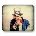 Uncle Sam (B) Mouse Pad  9.25