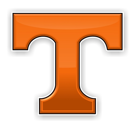 University Of Tennessee T Die Cut Decal 4 Sizes