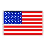 USA AMERICAN FLAG  Vinyl Die-Cut Decal / Sticker ** 4 Sizes **