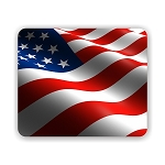 USA Flag Mouse Pad 9.25
