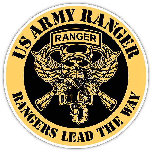 Us Army Ranger Vinyl Die Cut Decal Sticker 4 Sizes