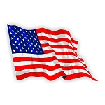 USA FLAG WAVING Vinyl Die-Cut Decal / Sticker ** 4 Sizes **