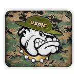USMC Marines Bulldog Camo Back Mouse Pad  9.25