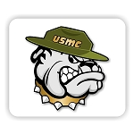USMC Marines Bulldog  Mouse Pad  9.25
