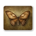 Vintage Butterfly Mouse Pad 9.25