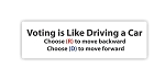Voting is Like Driving a Car (Political) Die-cut Vinyl Decal / Sticker ** 4 Sizes **