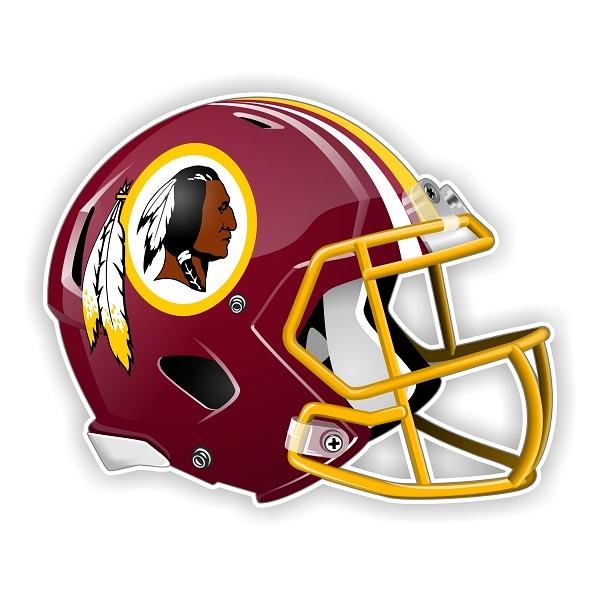 Washington Redskins New Shape Helmet Die Cut Decal 4