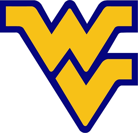 Wvu West Virginia University Mountaineers Blue Outline