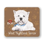 I Love my West Highland Terrier Mouse Pad 9.25