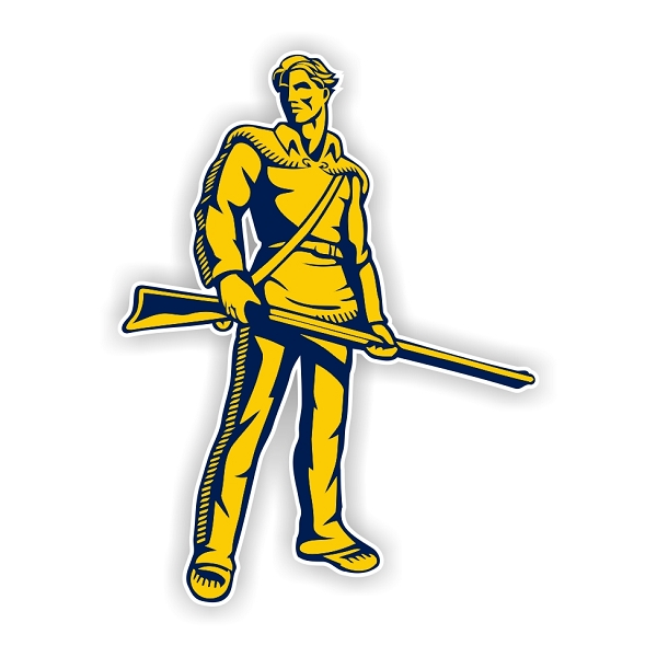 West Virginia Mountaineers D Vinyl Die Cut Decal