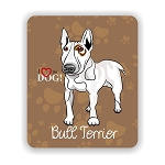 I Love my White Bull Terrier  Mouse Pad 9.25