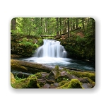 White Horse Falls Mouse Pad 9.25
