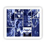Wine Glasses Collage Mouse Pad 9.25