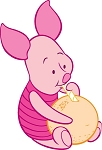Piglet (Winnie The Pooh) Die-cut Vinyl Decal / Sticker ** 4 Sizes **