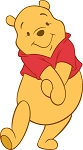 Winnie The Pooh (Hands Clasped) Die-cut Vinyl Decal / Sticker ** 4 Sizes **
