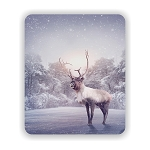Winter Reindeer  Mouse Pad 9.25