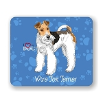 I Love my Wire Fox Terrier Mouse Pad 9.25