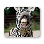 Zebra Smiling Mouse Pad 9.25