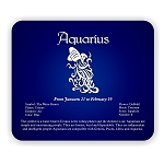 Zodiac Aquarius  Mouse Pad  9.25