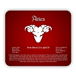 Zodiac Aries  Mouse Pad  9.25