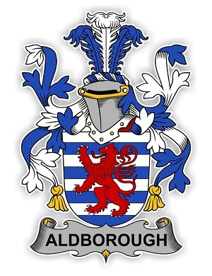 Aldborough Family  Crest Vinyl Die-Cut Decal / Sticker ** 4 Sizes **