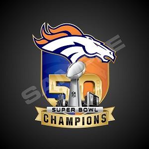 Denver Broncos Super Bowl 50 Champions Die Cut Vinyl Decal