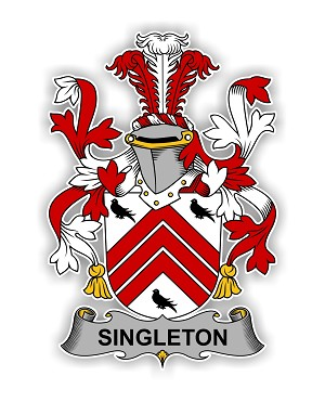 Singleton Family  Crest Vinyl Die-Cut Decal / Sticker ** 4 Sizes **