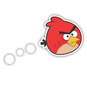 "Angry Birds ""Big Red Bird Flying"" Die-cut Vinyl Decal / Sticker ** 4 Sizes **"