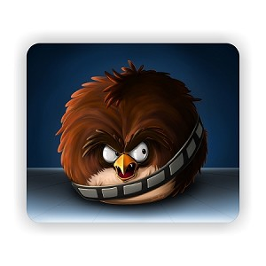"Angry Birds Star Wars  Chewbacca Mouse Pad  9.25"" X 7.75"""