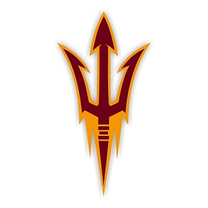 ASU Arizona State Sun Devils (Fork) Vinyl Die-Cut Decal / Sticker ** 4 Sizes **