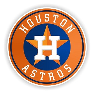 Houston Astros (Orange) Die-cut Vinyl Decal / Sticker ** 4 Sizes **