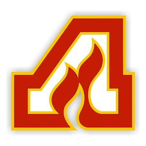 Atlanta Flames (A) Vinyl Decal / Sticker ** 4 Sizes **