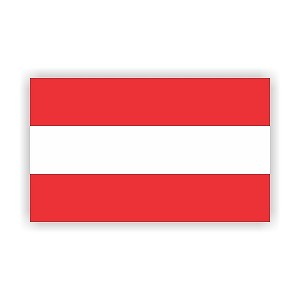 Austria Flag  Vinyl Die-Cut Decal / Sticker ** 4 Sizes **