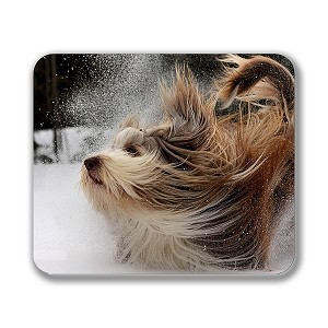 "Bearded Collie Mouse Pad 9.25"" X 7.75"""