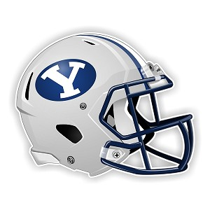Brigham Young Cougars New Shape Helmet Vinyl Die-Cut Decal / Sticker ** 4 Sizes **
