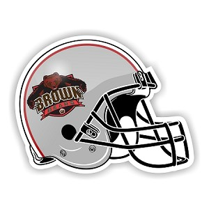Brown University Bears Helmet Die-Cut Decal ** 4 Sizes **